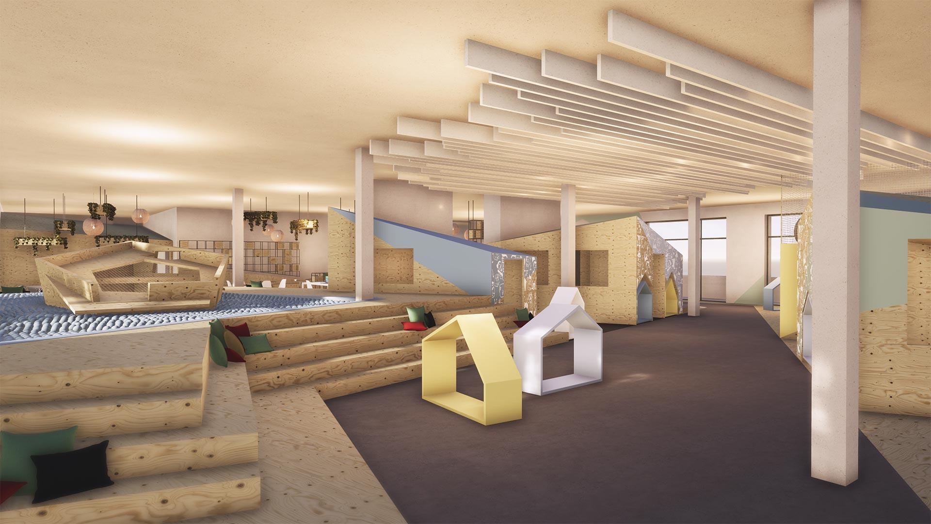 Spielhalle und Coworking Space